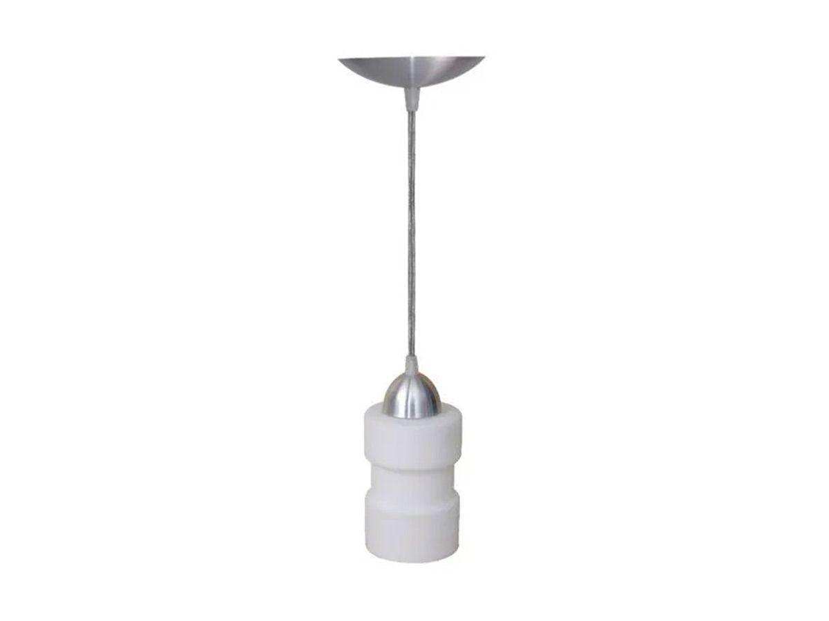 Pendente Lustre Luminária de Teto Marana Aço e Vidro  - Panela de Ferro Fundido