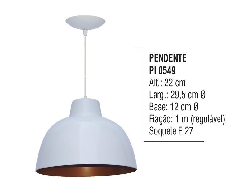 Pendente Lustre Luminária de Teto Meia Bola N05 em Plástico  - Panela de Ferro Fundido