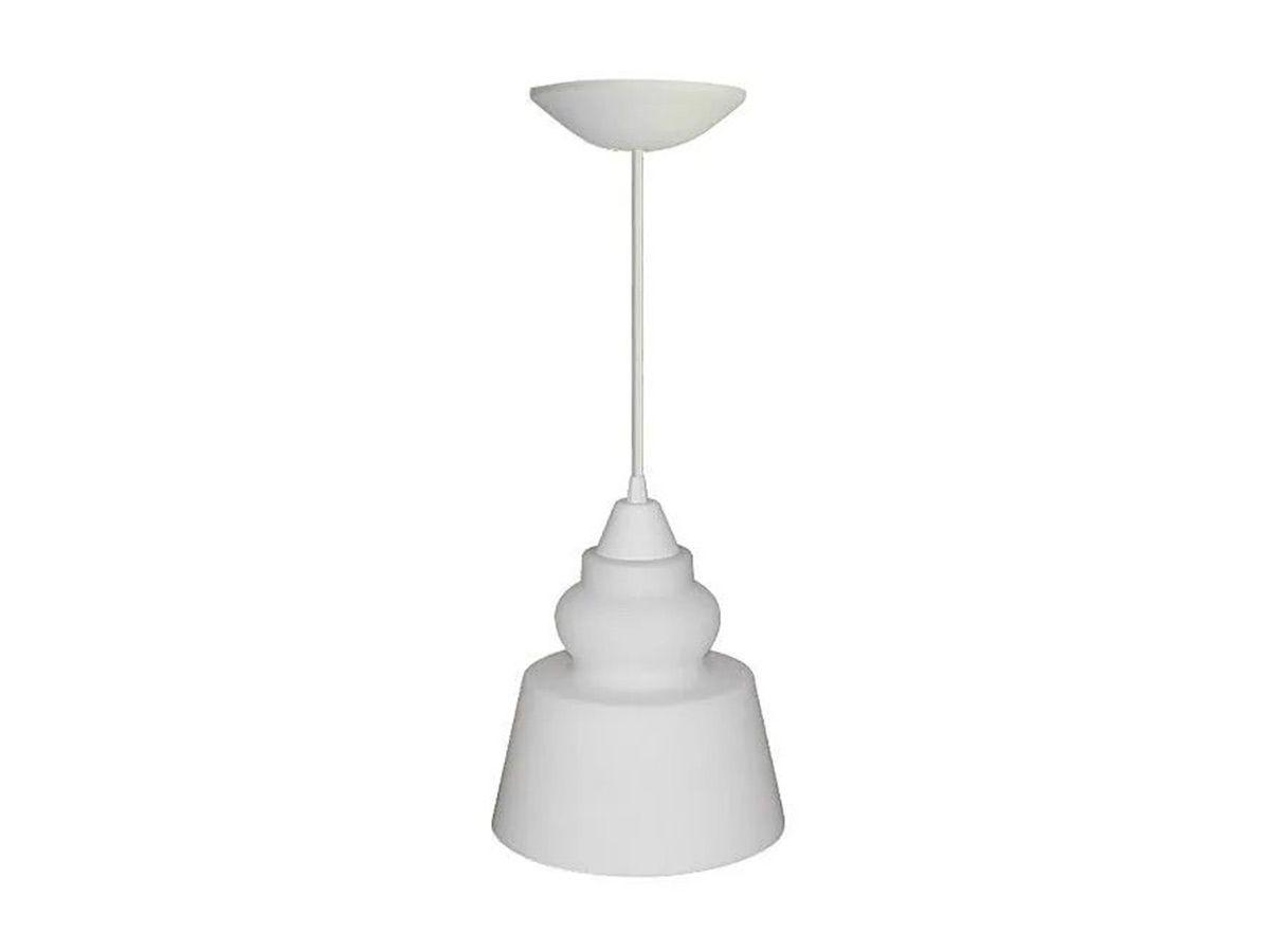 Pendente Lustre Luminária de Teto Moldado Plástico e Vidro