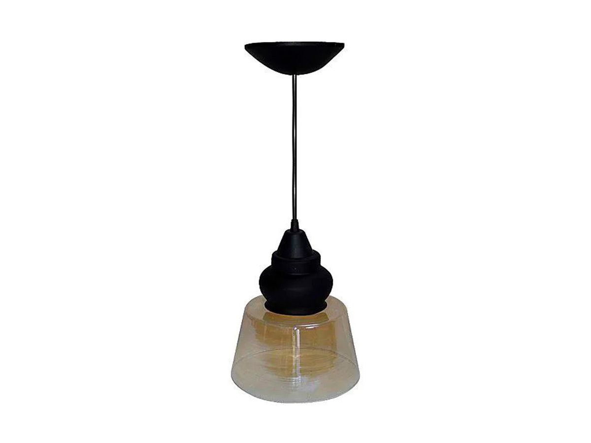 Pendente Lustre Luminária de Teto Pomona Plástico e Vidro  - Panela de Ferro Fundido