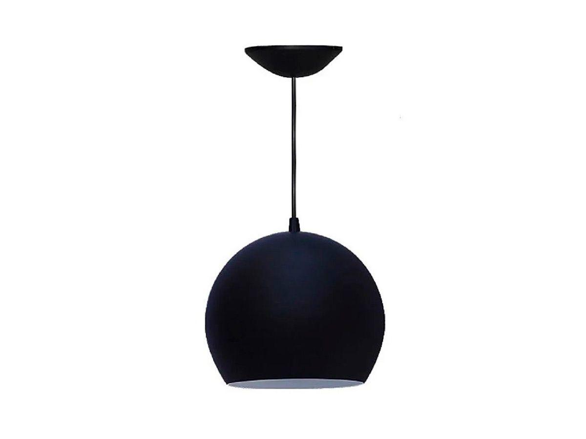Pendente Lustre Luminária de Teto Taça Grande em Plástico  - Panela de Ferro Fundido