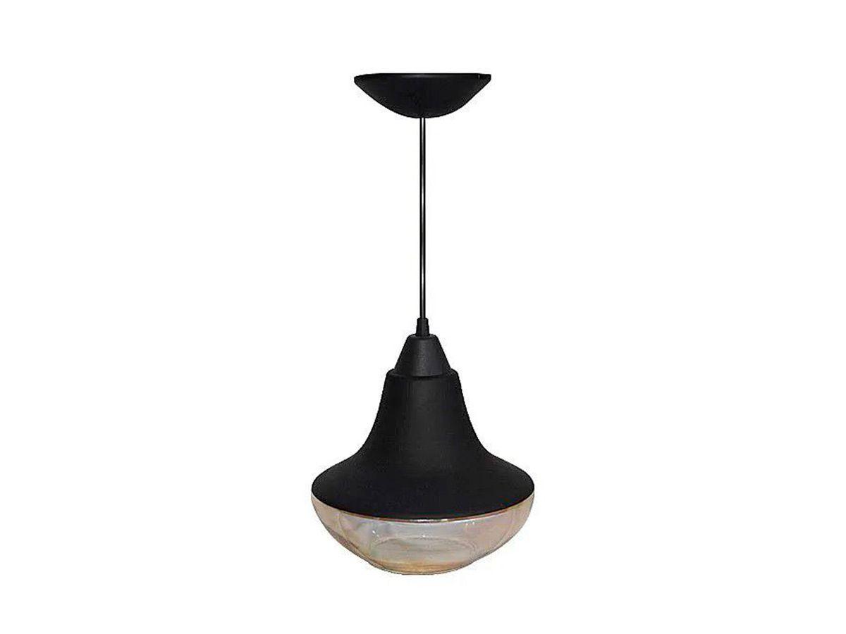 Pendente Lustre Luminária Teto Corona N02 Plástico e Vidro  - Panela de Ferro Fundido