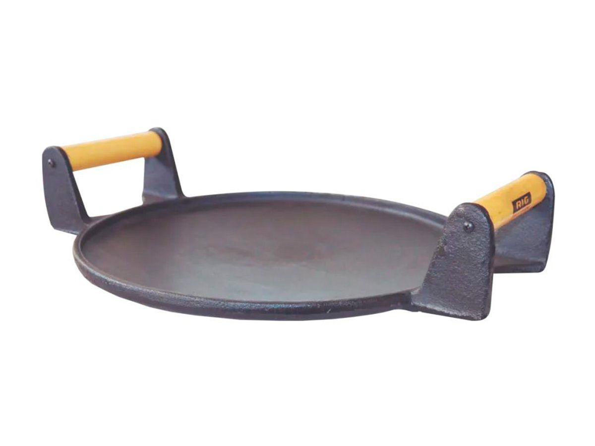 Picanheira De Ferro Fundido Com 2 Alças - 34cm De Largura  - Panela de Ferro Fundido