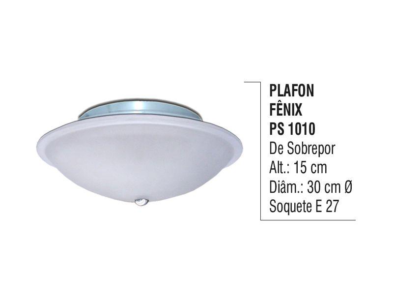 Plafon para Teto e Parede Fênix de Sobrepor Alumínio e Vidro  - Panela de Ferro Fundido