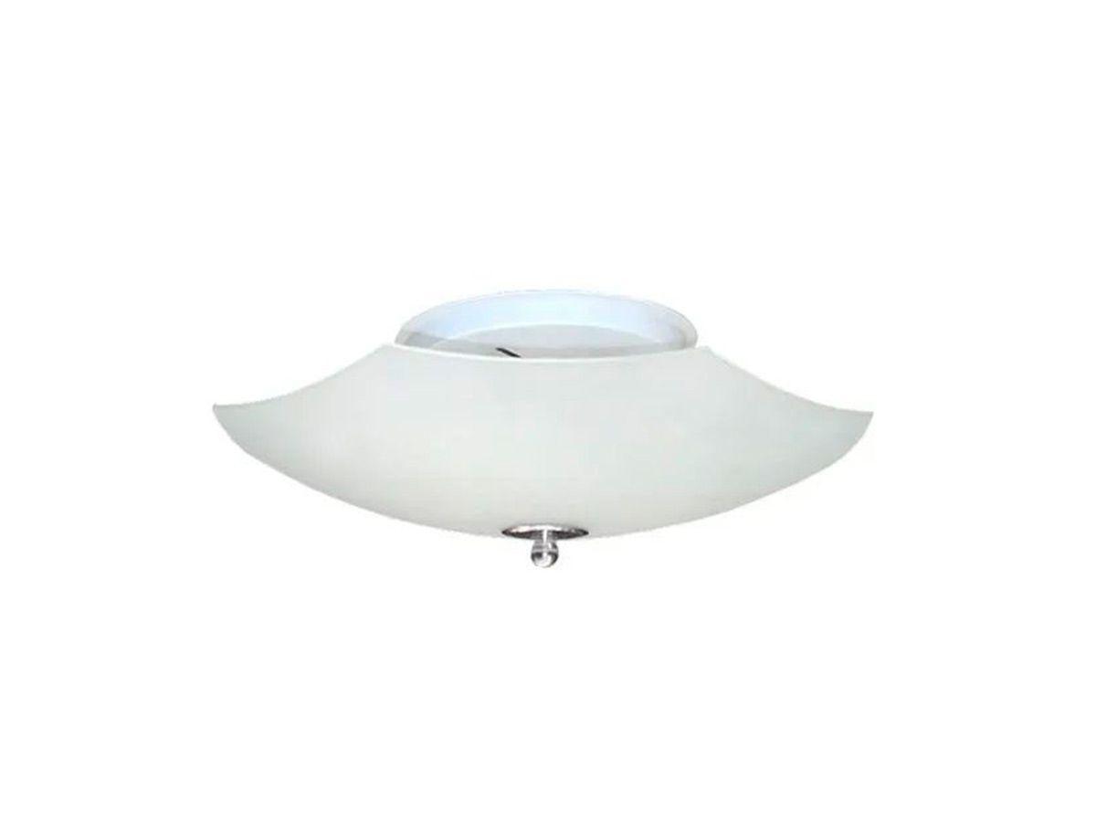 Plafon para Teto Parede Saturno de Sobrepor Alumínio e Vidro