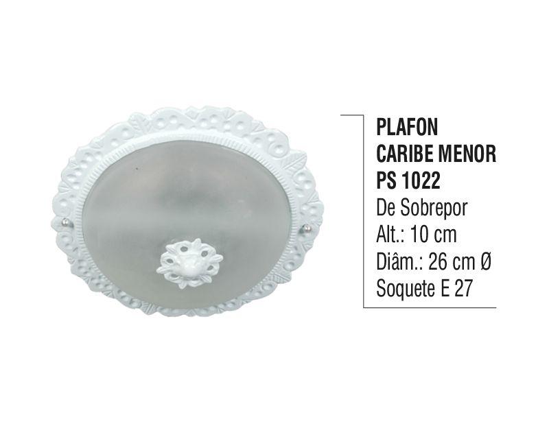 Plafon Teto Parede Caribe Menor de Sobrepor Alumínio e Vidro  - Panela de Ferro Fundido
