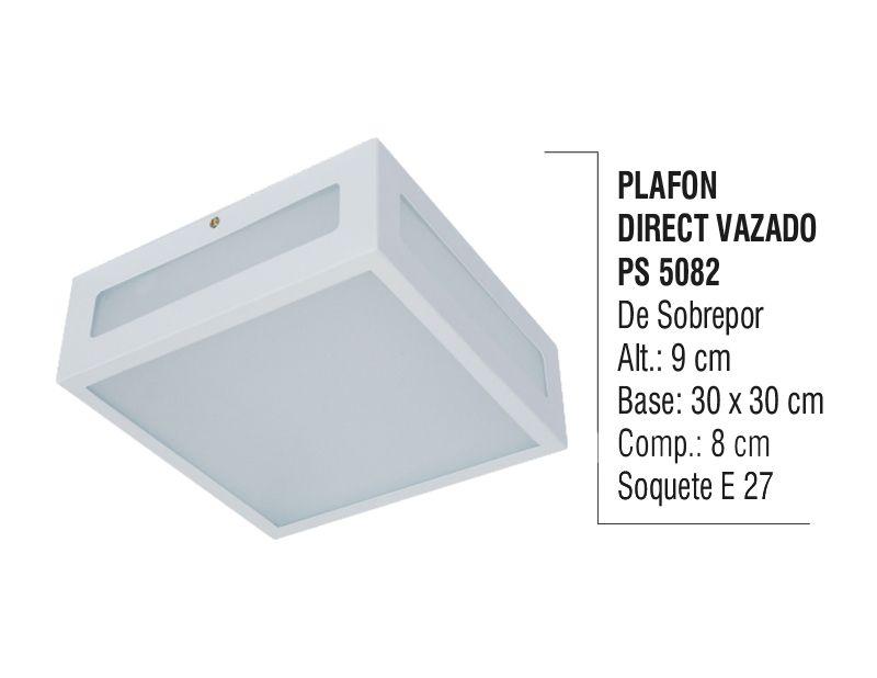 Plafon Teto Parede Direct Vazado Sobrepor Alumínio e Vidro  - Panela de Ferro Fundido