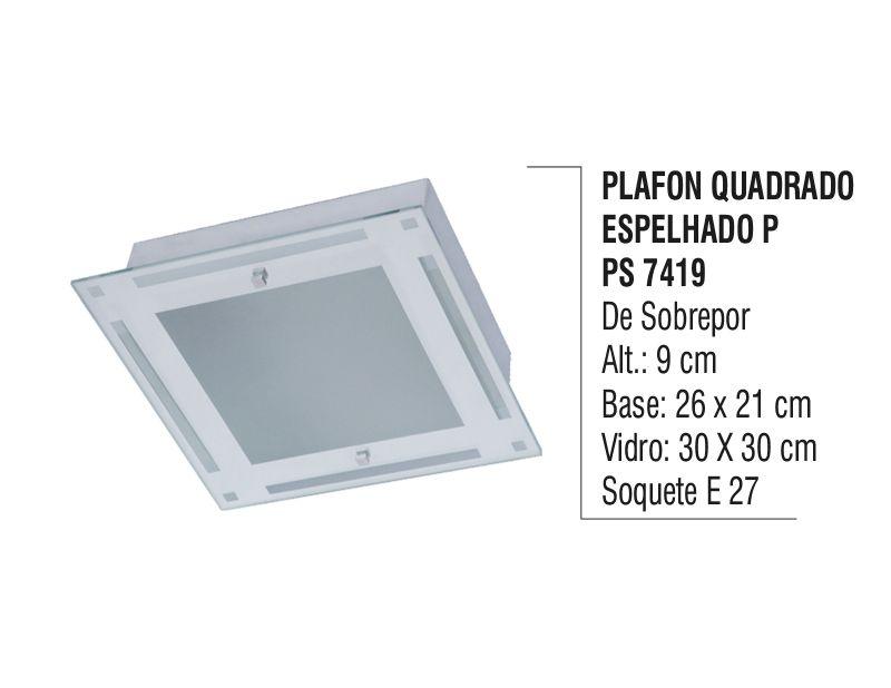 Plafon Teto Parede Espelhado P de  Sobrepor Alumínio e Vidro  - Panela de Ferro Fundido