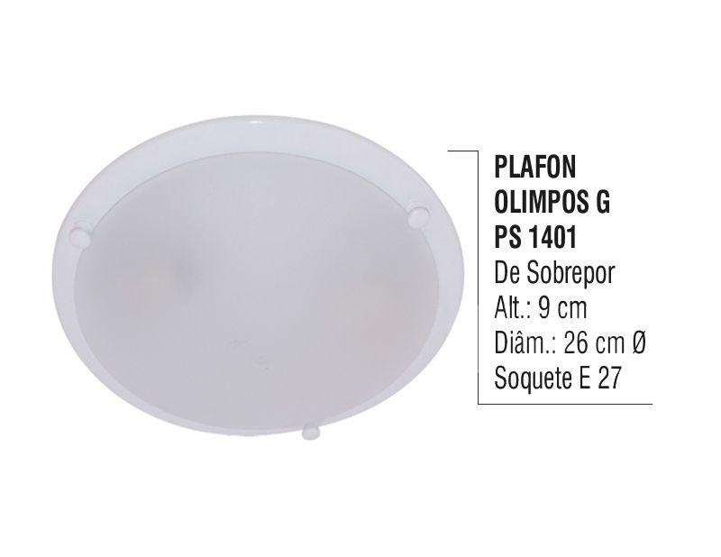 Plafon Teto Parede Olimpos G De Sobrepor Alumínio E Vidro