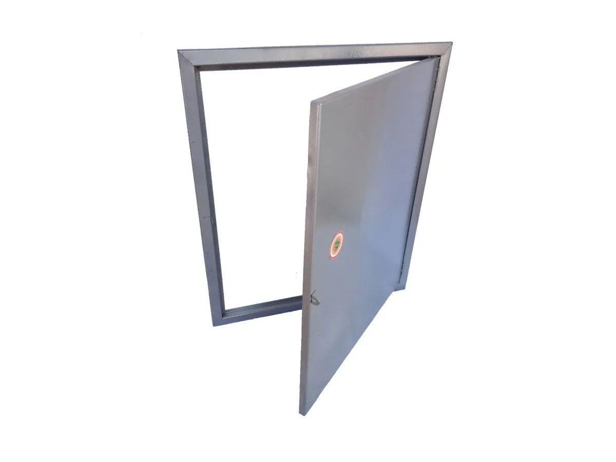 Porta Alçapão Em Chapa Aço Carbono 53x63cm