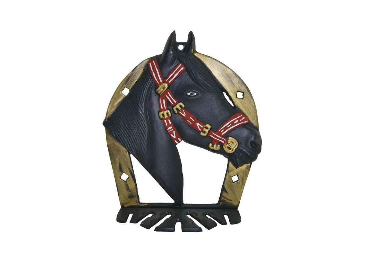 Porta Espeto em Alumínio Fundido Modelo Cavalo  - Panela de Ferro Fundido