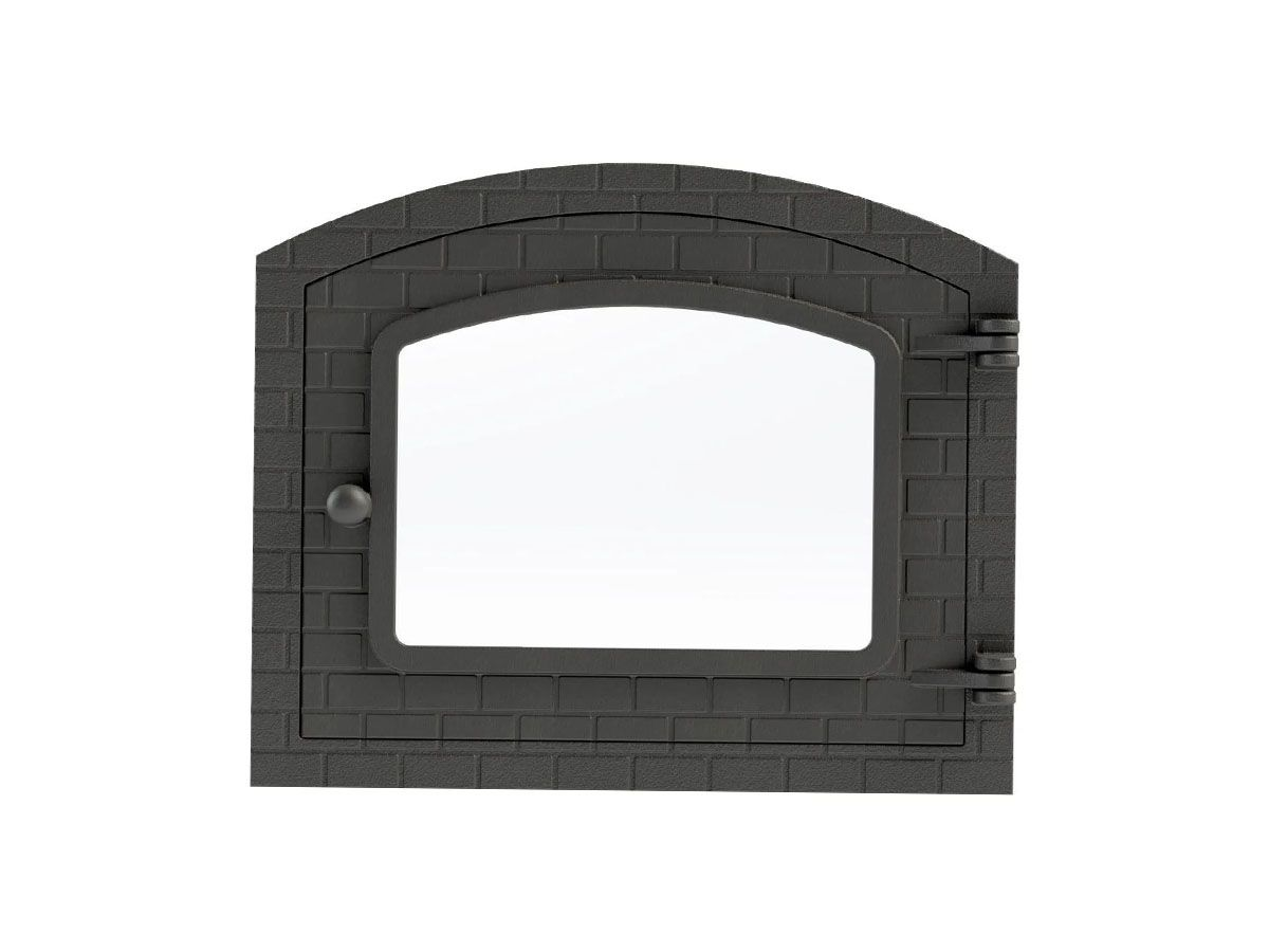 Porta Forno Ferro Fundido Com Vidro 31,5x46cm Colonial G  - Panela de Ferro Fundido