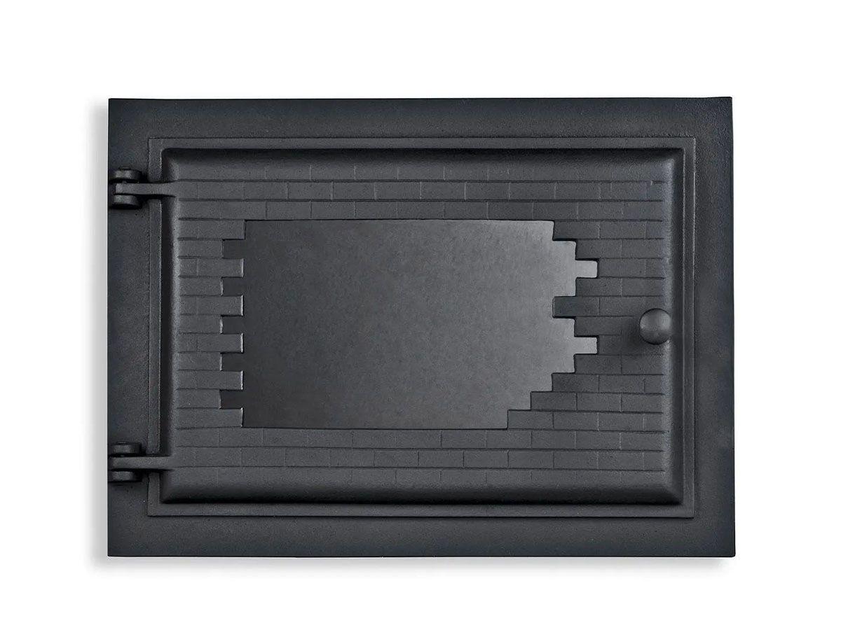 Porta Forno Ferro Fundido Com Vidro Libaneza 31,5x46cm