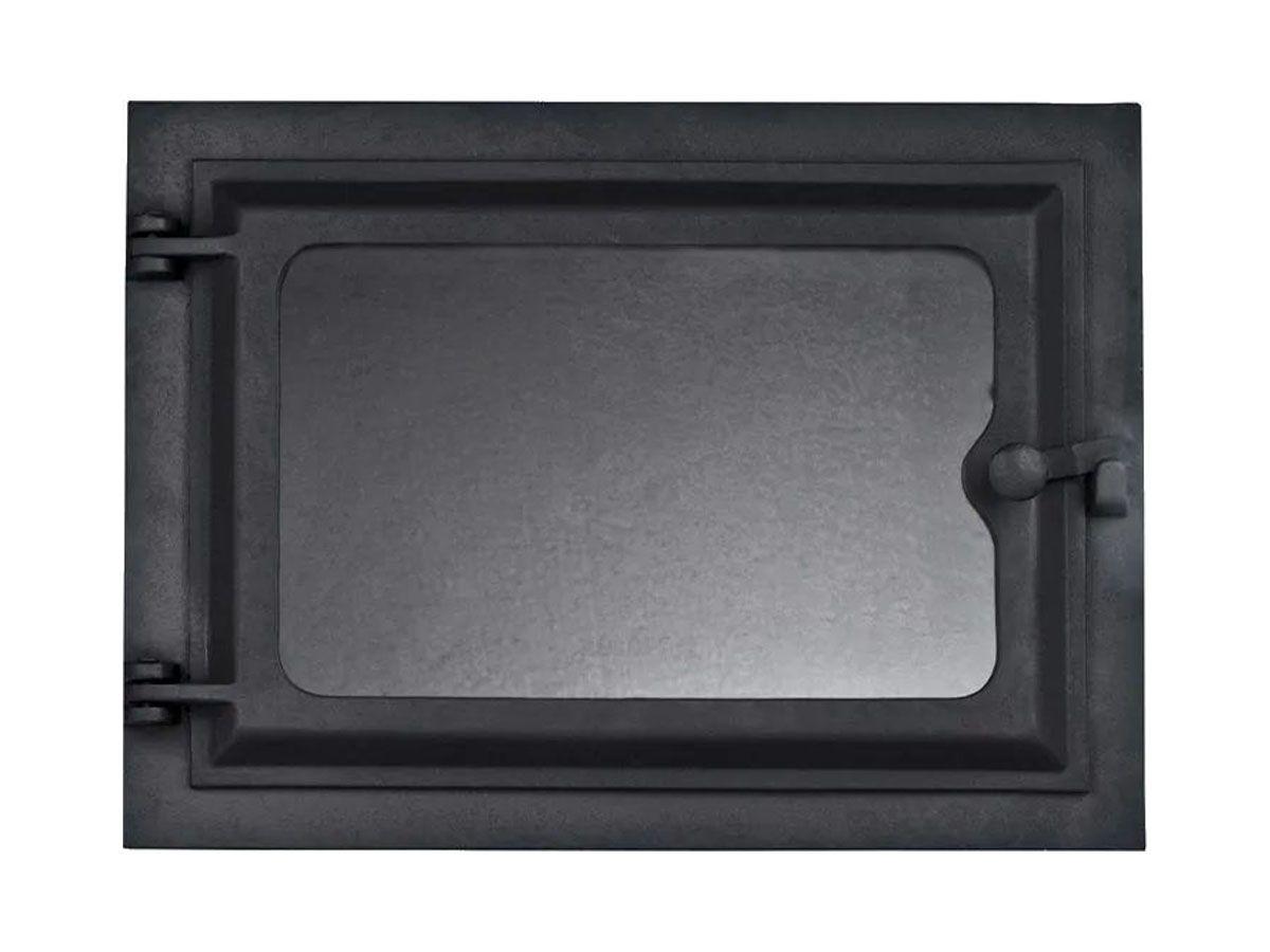 Porta Forno Ferro Fundido Com Vidro 31,5x46cm - Modelo G  - Panela de Ferro Fundido