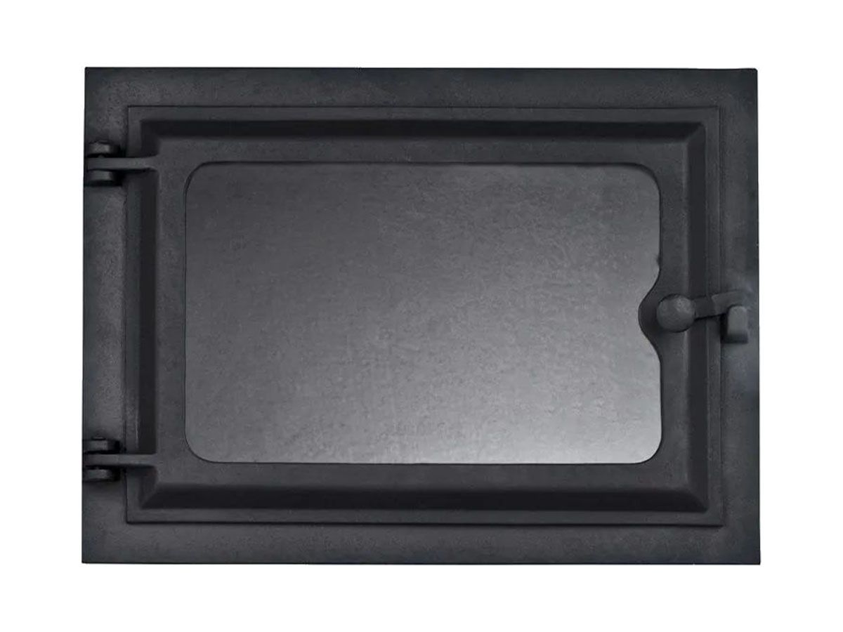 Porta Forno Ferro Fundido Com Vidro 28,5x33,5cm