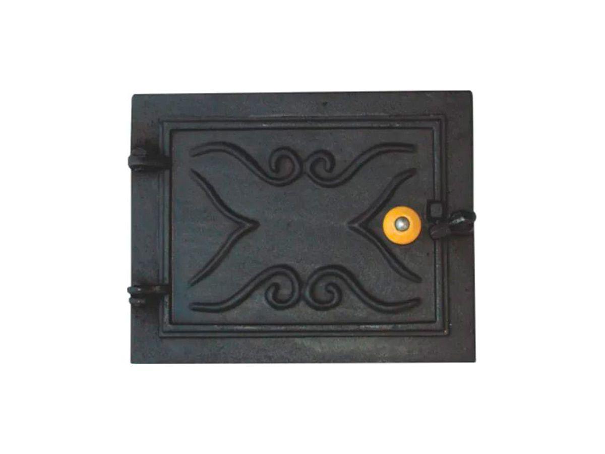 Porta P/ Cinzeiro Cabo De Madeira Cor Preto - 32x25cm  - Panela de Ferro Fundido