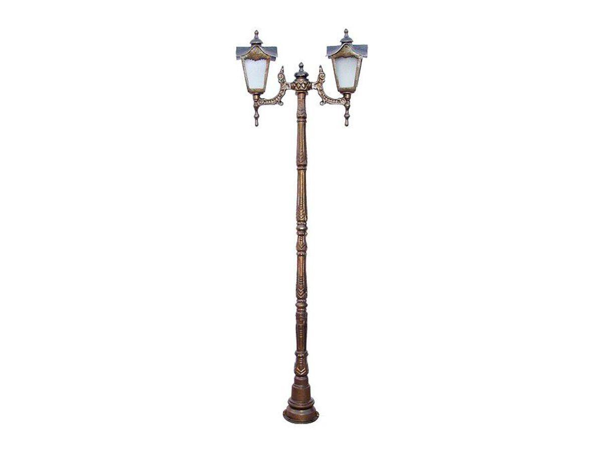 Poste Colonial Madri para Jardim Alumínio 02 Luminária 1,71m  - Panela de Ferro Fundido