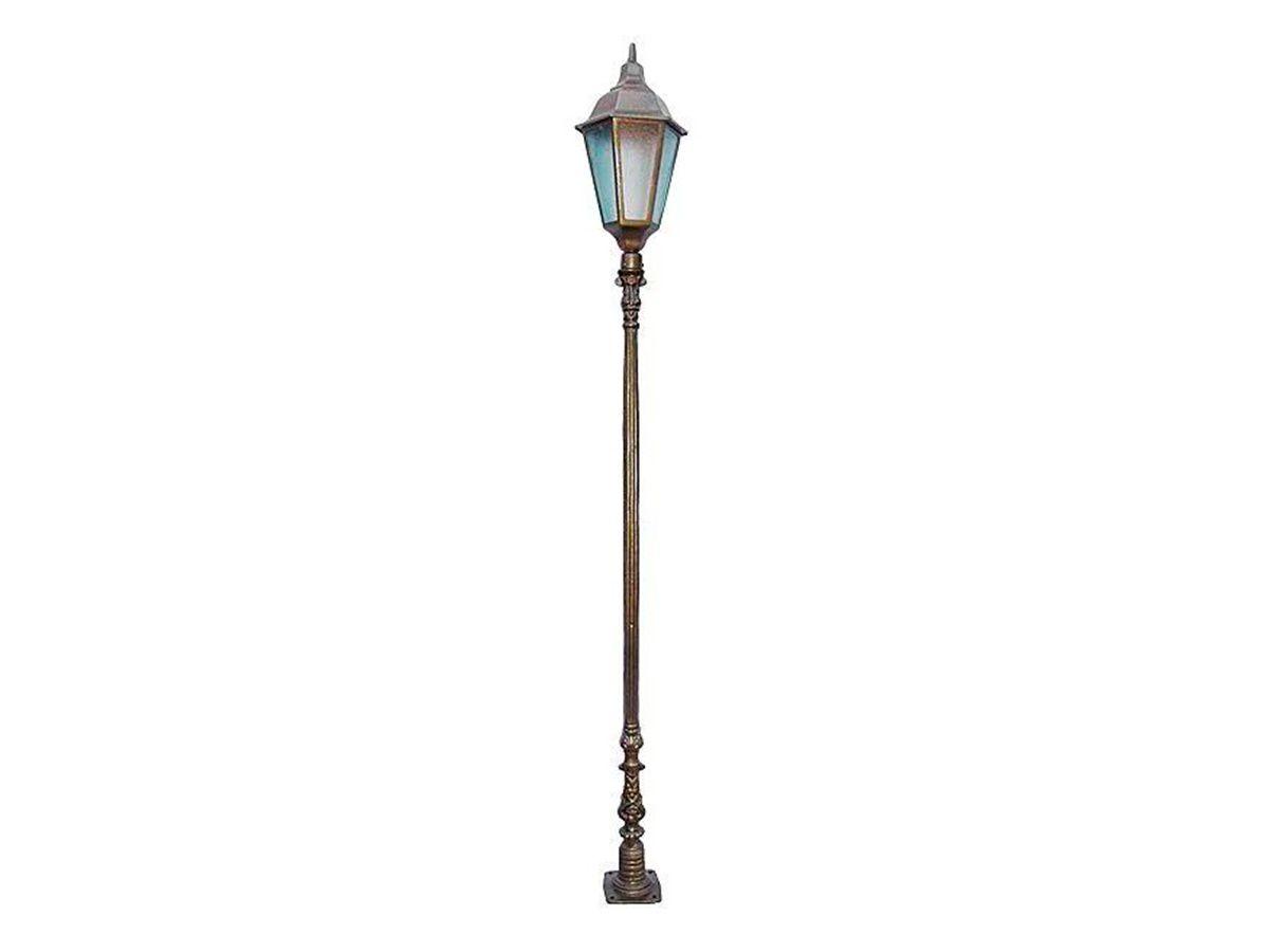 Poste Colonial Verona Jardim de Alumínio 01 Luminária 2,38m