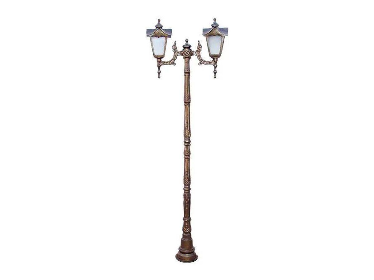 Poste Madri Maior para Jardim de Alumínio 02 Luminária 1,99m  - Panela de Ferro Fundido