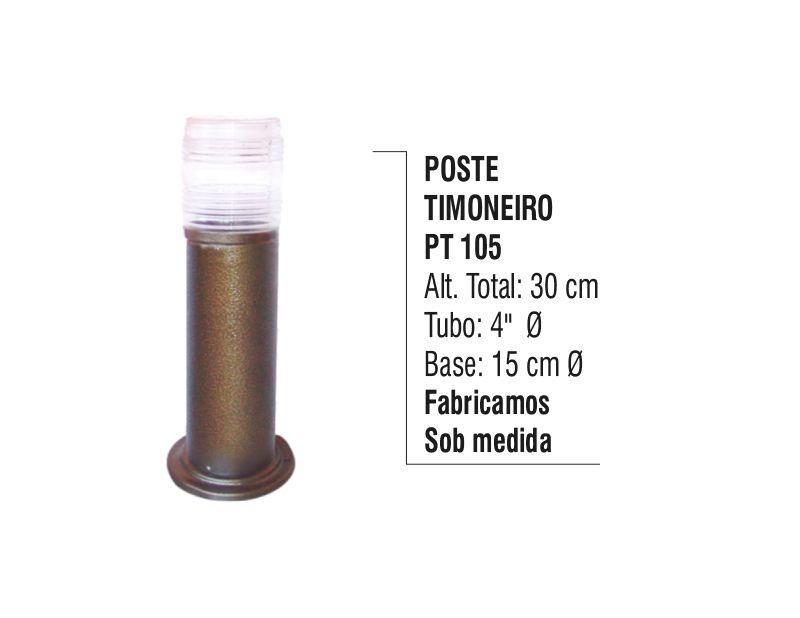 Poste Timoneiro Jardim e Praças em Tubo de Alumínio 30cm