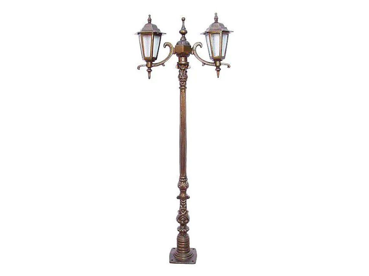 Poste Verona Mini para Jardim de Alumínio 02 Luminária 1,42m  - Panela de Ferro Fundido