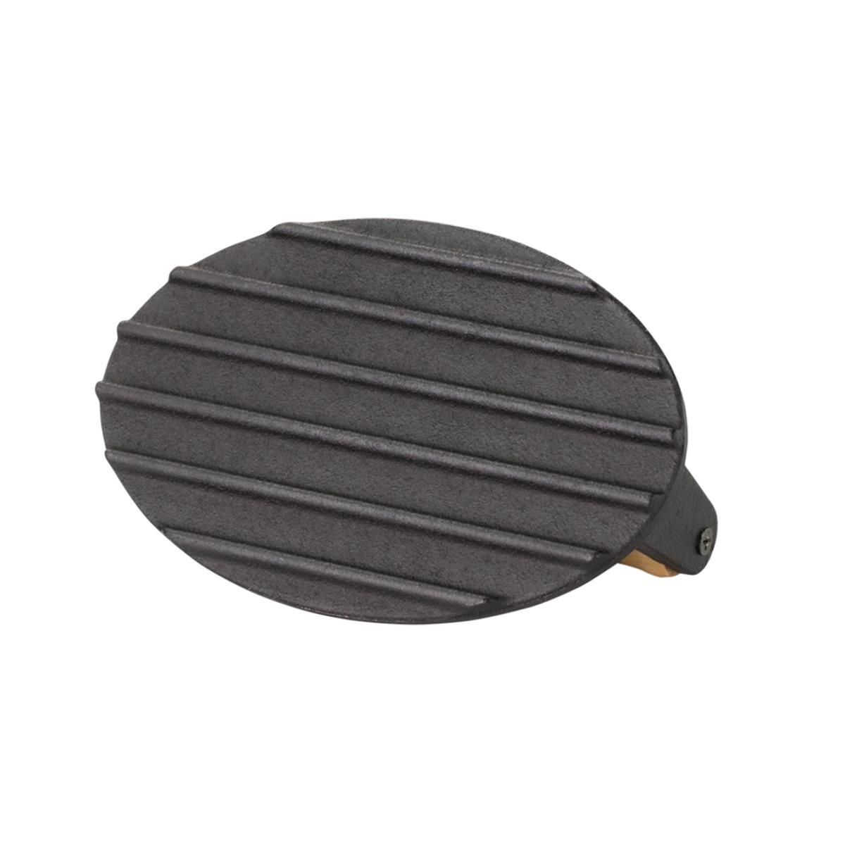 Prensador De Bife Ferro Fundido Santana 18x11cm  - Panela de Ferro Fundido