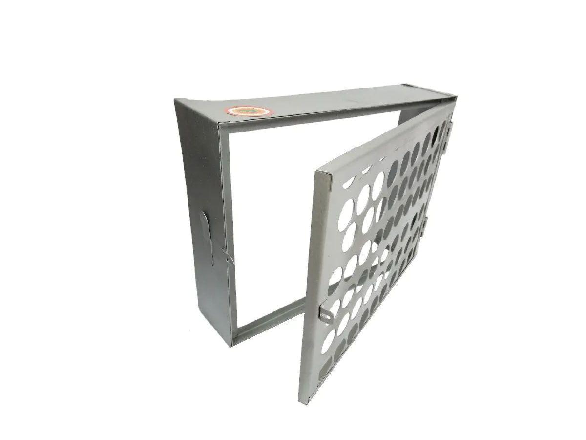 Proteção Hidrômetro Tela Moeda Com Porta Cadeado 50x40cm  - Panela de Ferro Fundido