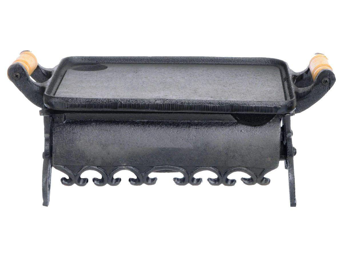 Rechaud Colonial Liso Ferro Fundido 1 Chama Santana 39x25 Cm  - Panela de Ferro Fundido