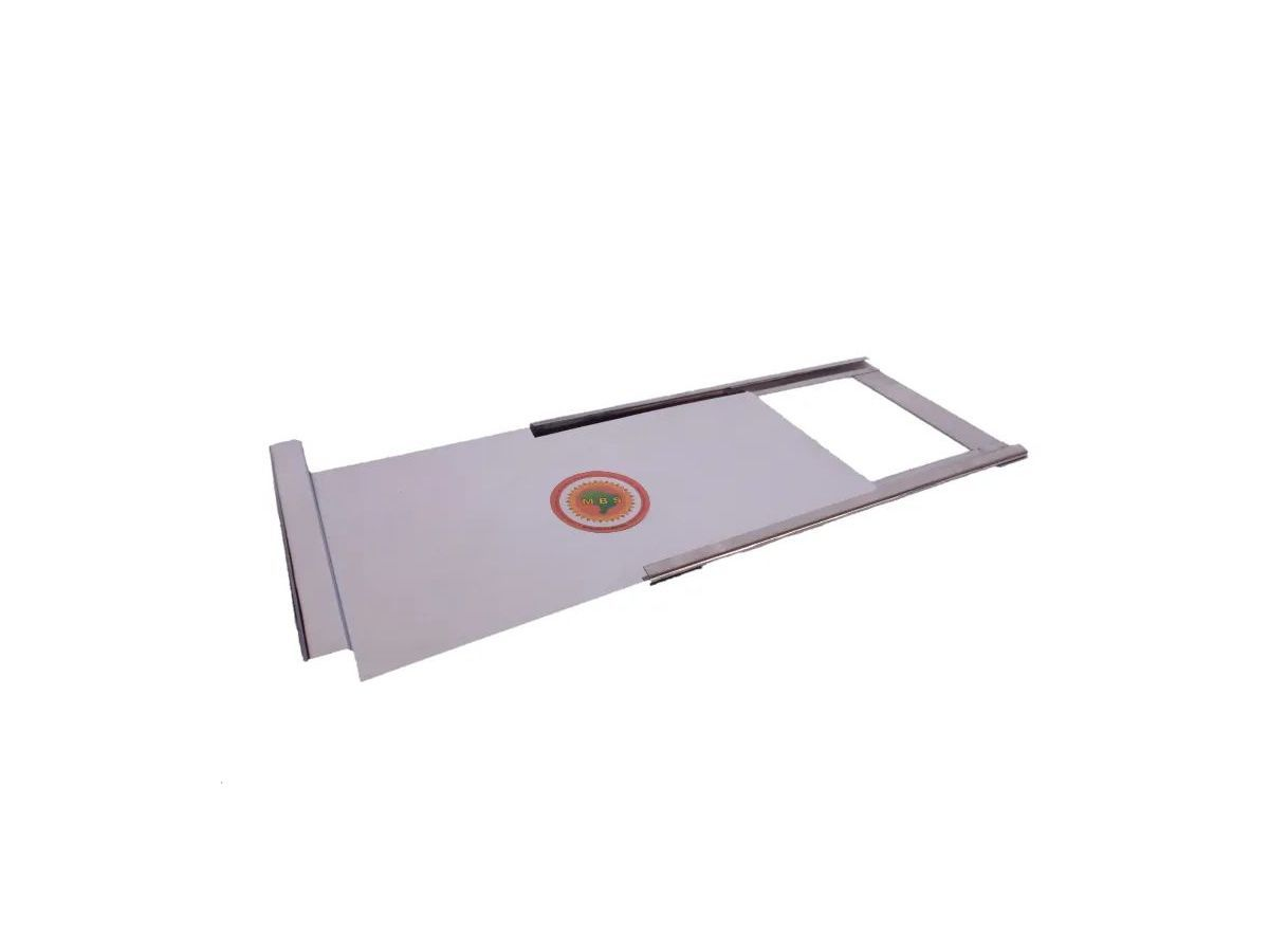Registro Para Fogão A Lenha Em Chapa De Inox 0,15mm 30x15cm