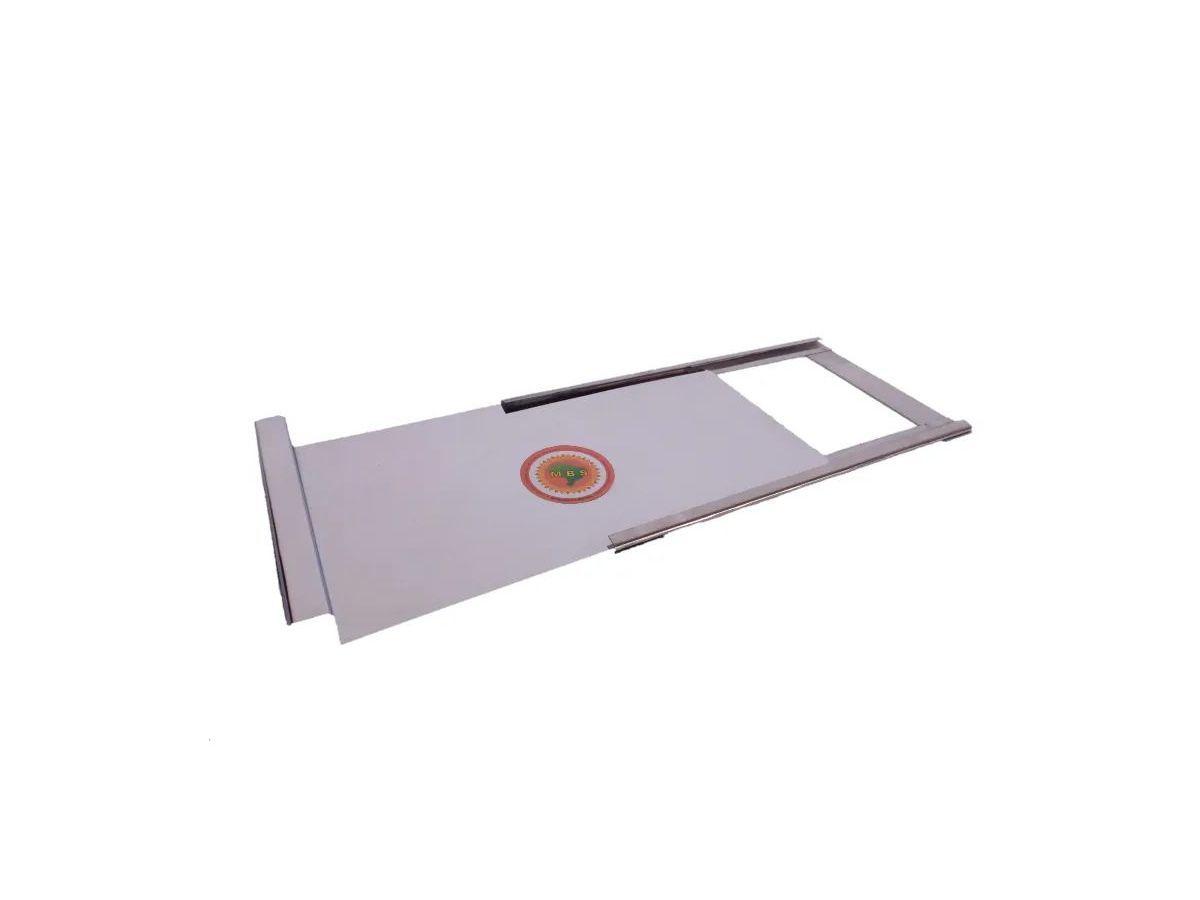 Registro Para Fogão A Lenha Em Chapa De Inox 0,20mm 30x23cm  - Panela de Ferro Fundido