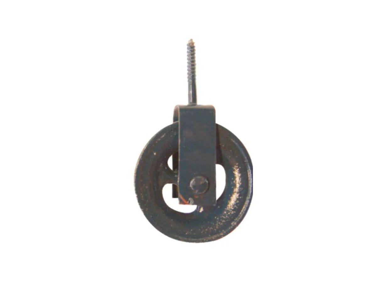 Roldana para Varal em Ferro Fundido Cinzento Grande  - Panela de Ferro Fundido