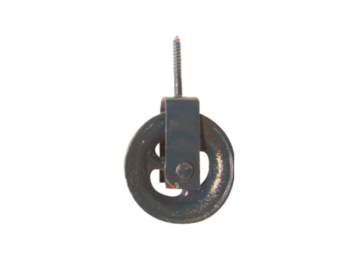 Roldana para Varal em Ferro Fundido Cinzento Pequena