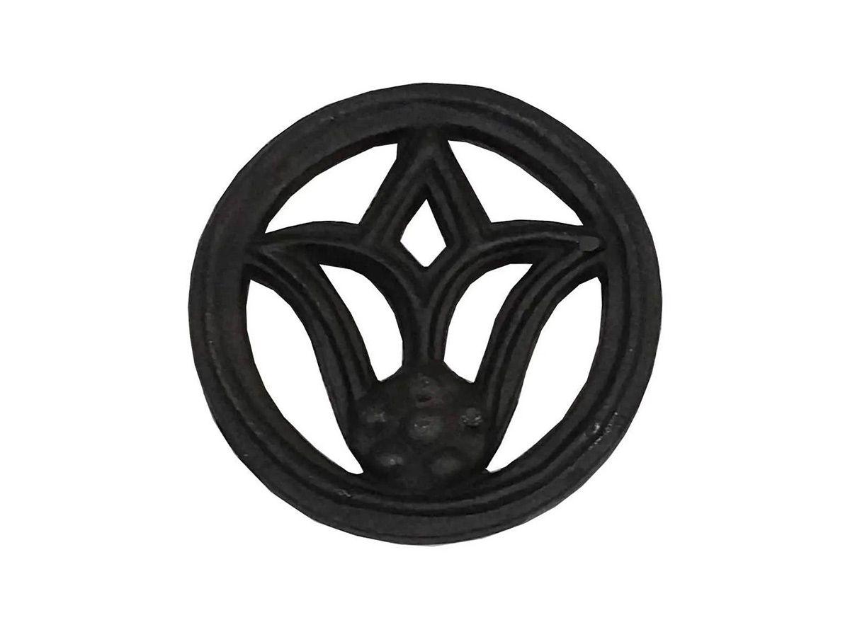 Rosácea Decoração de Ferro Flor de Lírio Grade Portão 15cm  - Panela de Ferro Fundido