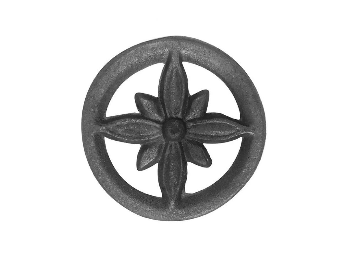 Rosácea Decoração de Ferro Flor de Liz Grade Portão 15cm