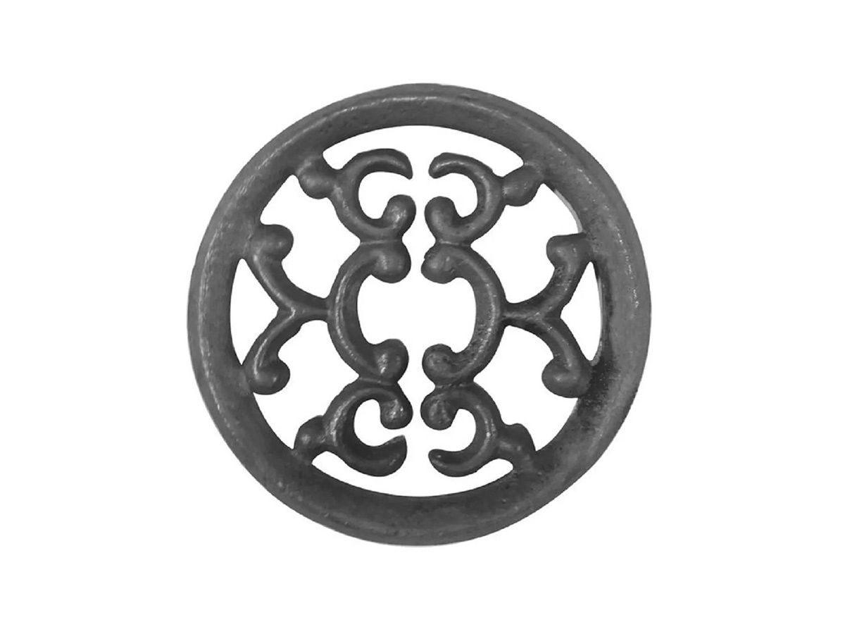 Rosácea Decoração Ferro Fundido Imperial Grade Portão 15cm  - Panela de Ferro Fundido