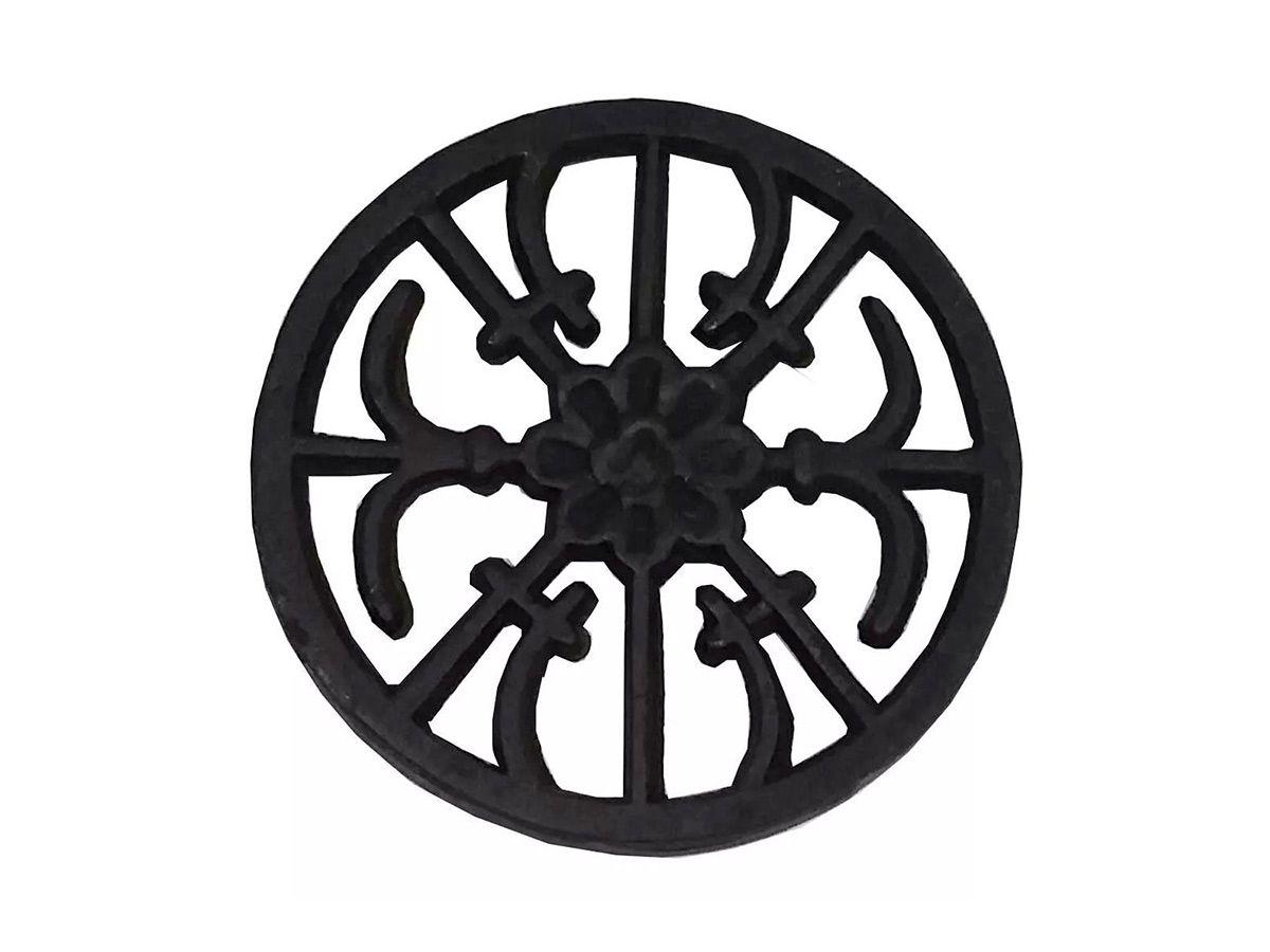 Rosácea Decoração Ferro Fundido Margarida Grade Portão 22cm  - Panela de Ferro Fundido