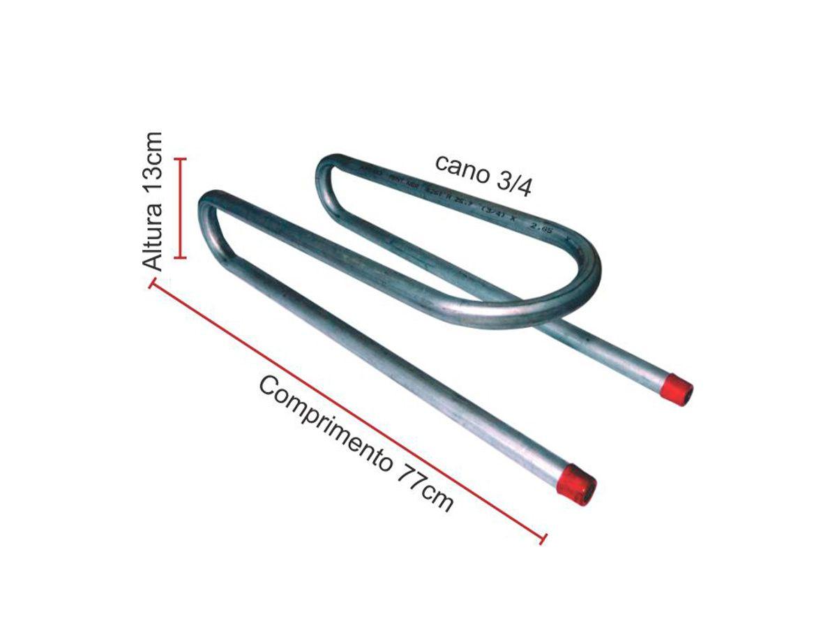 Serpentina Para Fogão De Lenha Cano  Galvanizado 3/4  - Panela de Ferro Fundido