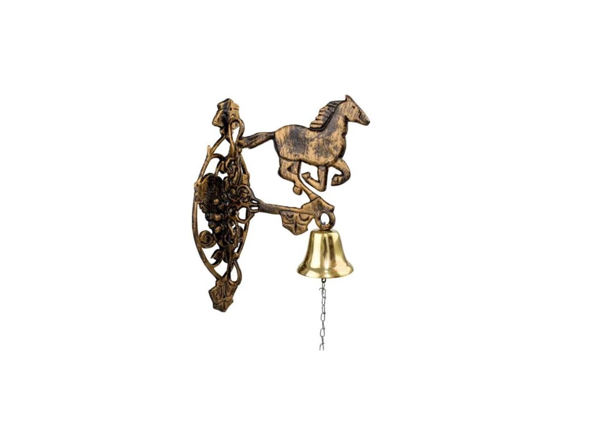 Sineta (sino) de Bronze de Parede Modelo Cavalo de Alumínio