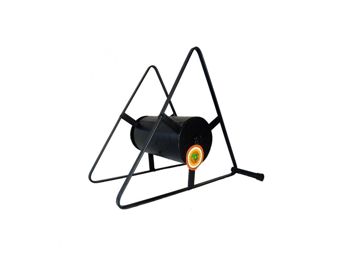 Suporte Enrolador De Mangueira Triângulo 32x29x18cm  - Panela de Ferro Fundido