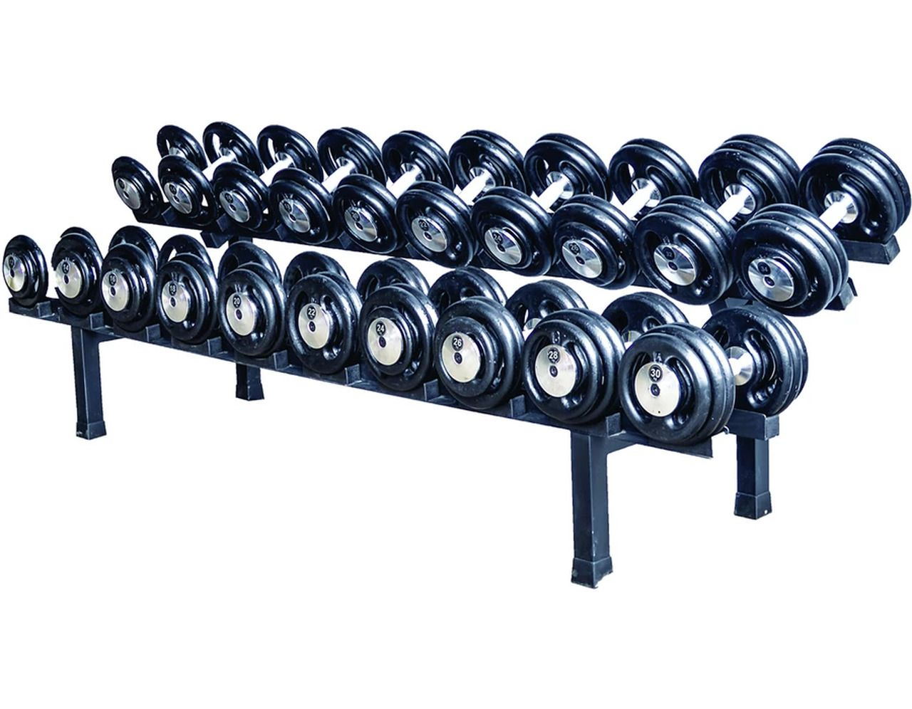 Suporte Expositor de Dumbbells para  10 Pares  - Panela de Ferro Fundido