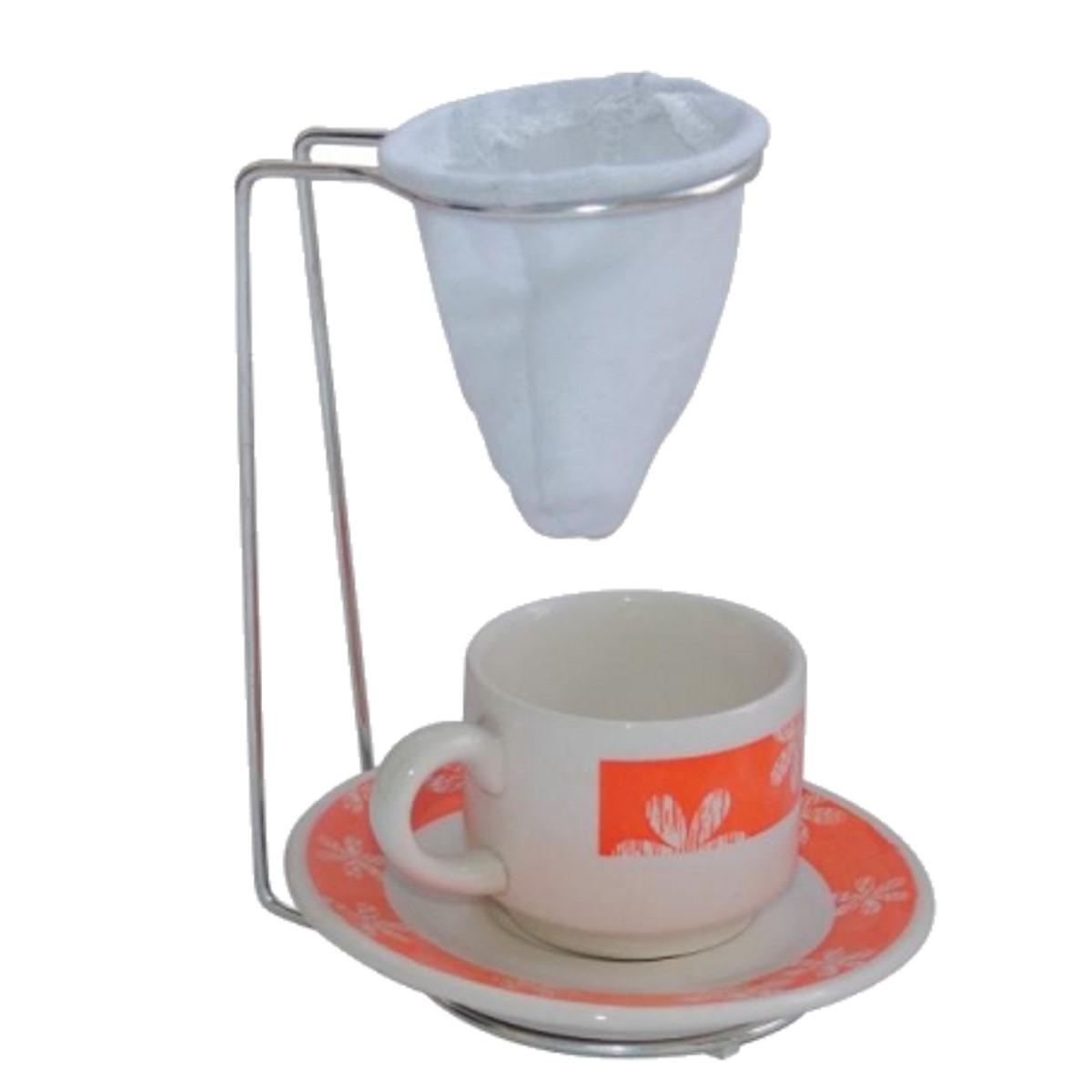 Suporte para Coador de Café Expresso Mini e Coador de Pano  - Panela de Ferro Fundido