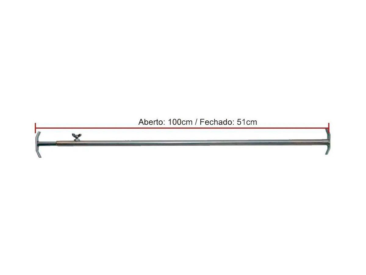 Suporte Tubo Em Aco Inox Para Espetos  - Panela de Ferro Fundido