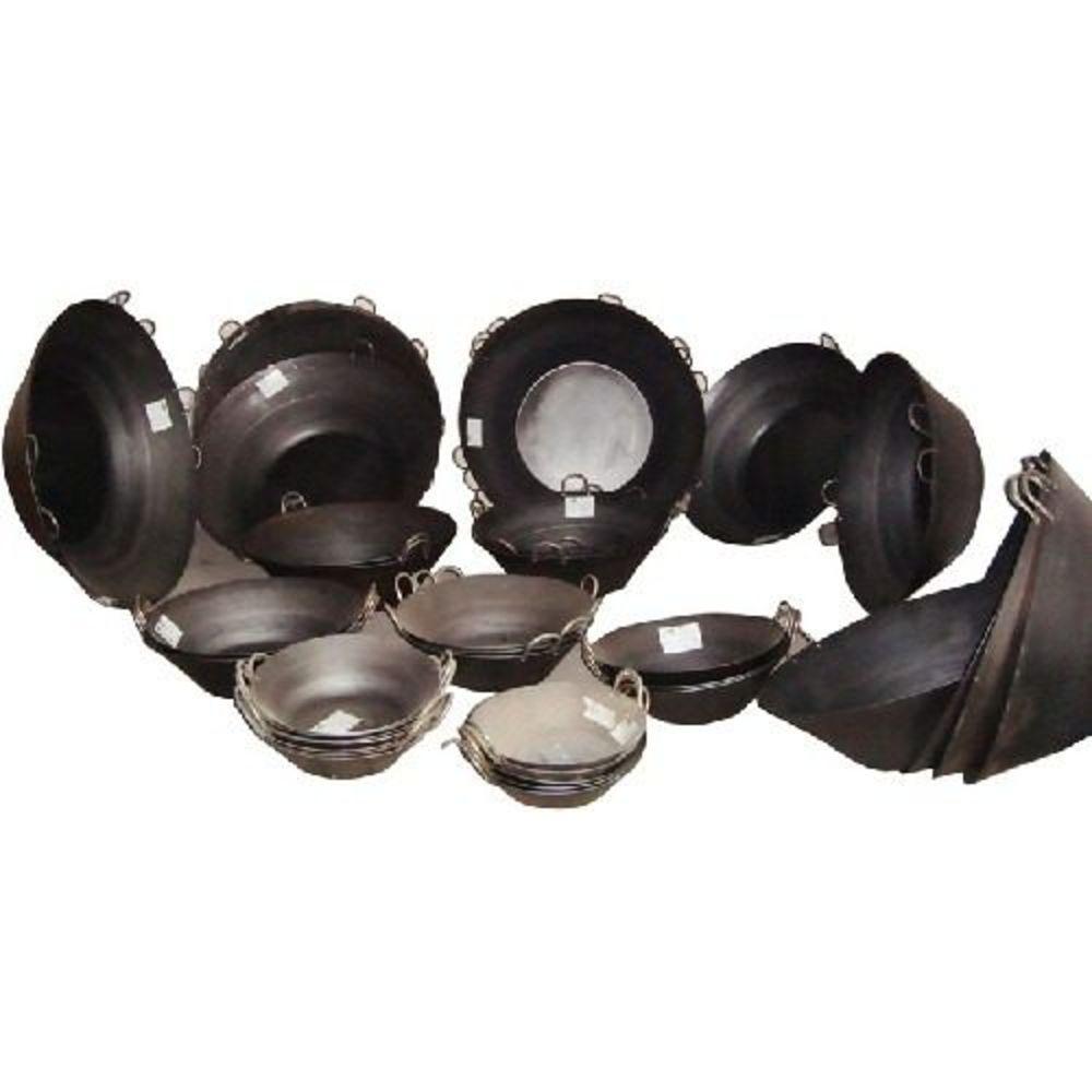 Tacho Beira Alta Preto Aço Carbono 12 Litros 45 Cm Diâmetro  - Panela de Ferro Fundido