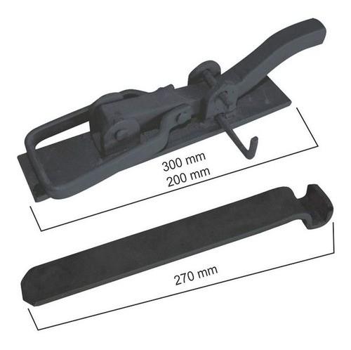 Tranca De Pressão Em Aço 1/4 X 1 X 1/4 200mm Pequena