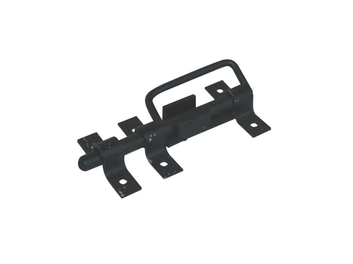 Trinco c/ Alça Para Portão e Porteira Aço Preto 200mm