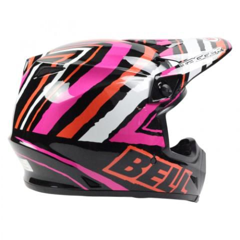 CAPACETE BELL MX 9 TAGGER TAGGER SCRUB ROSA - OFF ROAD