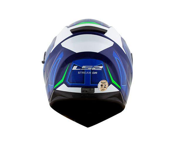 CAPACETE LS2 STREAM FF320 EDGE - AZUL BRANCO