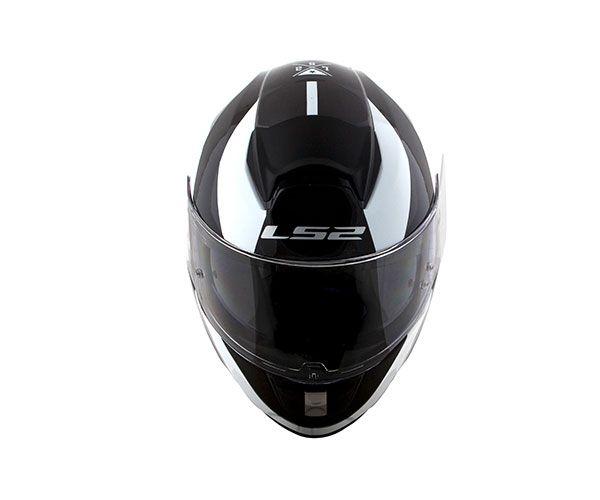 CAPACETE LS2 VECTOR R  FF397  EVO WAVY - PRETO BRANCO