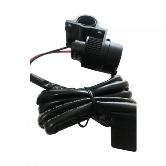 TOMADA USB INTERPHONE P/ MOTO - ACCMOTO2USB