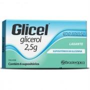 GLICEL SUPOSITÓRIO ADULTO COM 6